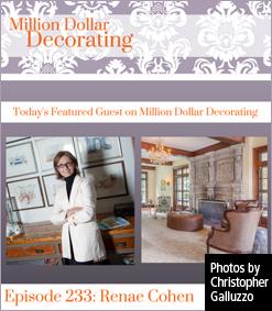Renae Cohen, guest on Million Dollar Decorating
